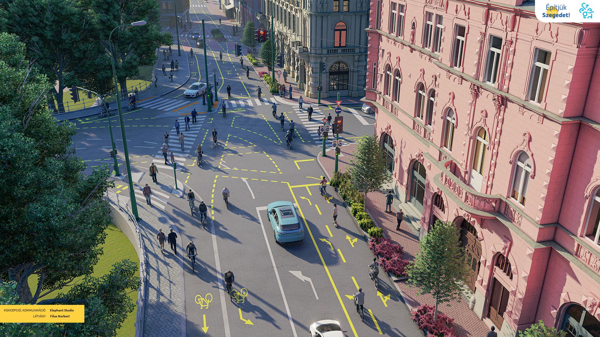 Szeged Oskola utca hídfő